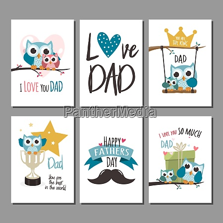 fathers day greeting cards set