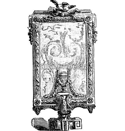screen vintage engraving