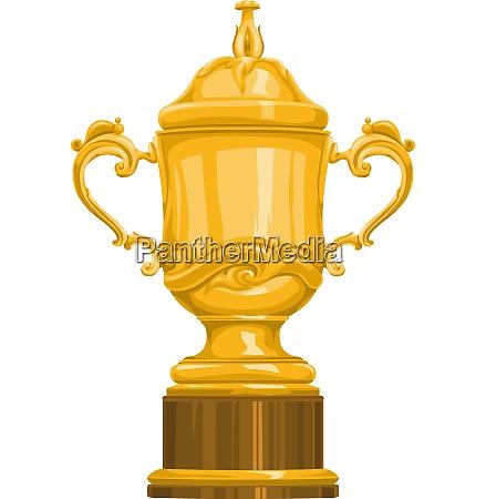 vector of gold trophy