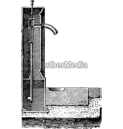 hydrant vintage engraving