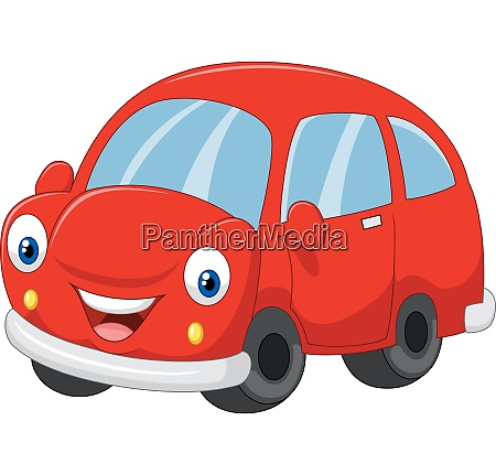 cartoon cute red car