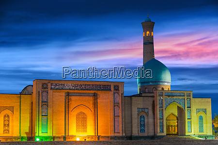 khast imam square in tashkent uzbekistan