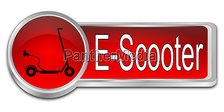 red e scooter button 3d