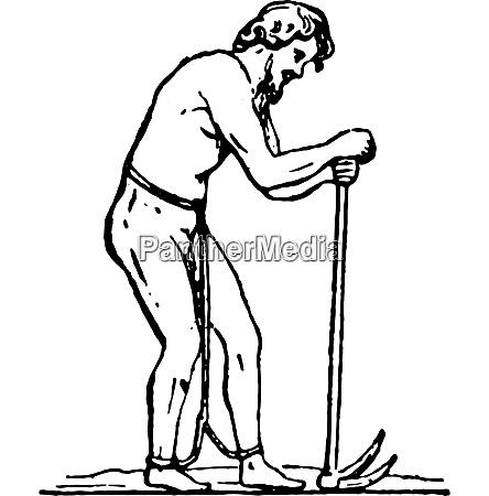 laborer slave vintage engraving