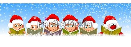 children and santa claus read books
