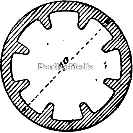 tube used to fins vintage engraving