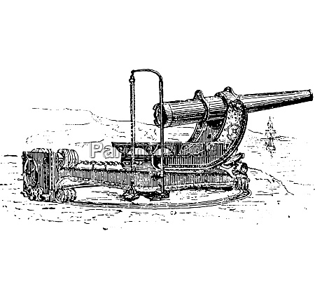 canon aside vintage engraving