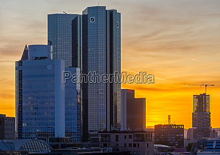 sunset, in, the, city, of, frankfurt - 27614482