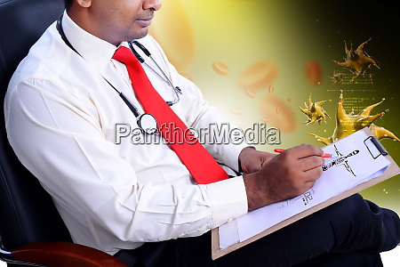 medical practitioner with reference note
