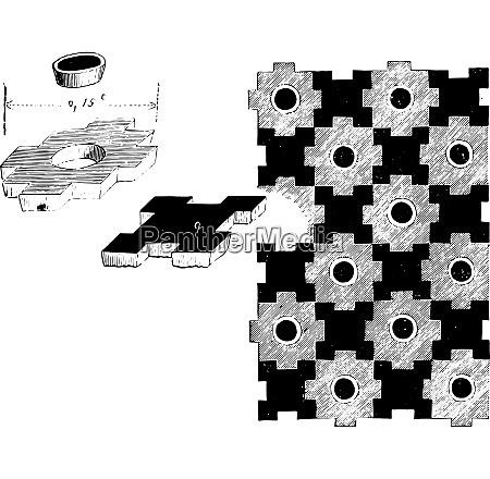 fragments of the twelfth century tiles