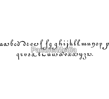 lowercase vintage engraving