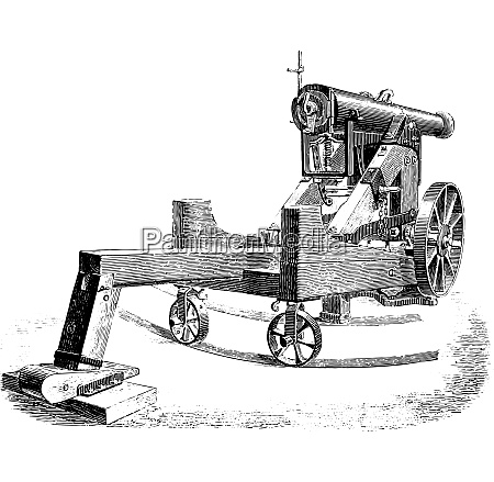 cannon 138mm on modified square lookout