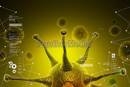3d virus cell