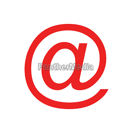 e mail symbol and background