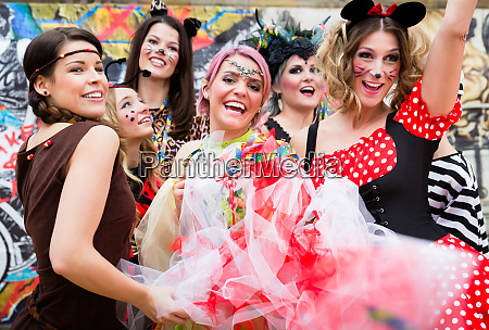 group of women in sexy costumes