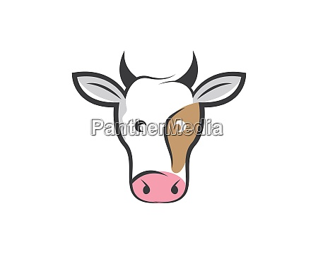 cow logo vector illustration templat