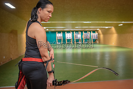 young beautiful woman in sports competitions