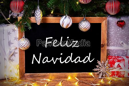 chalkboard tree gift fairy lights feliz