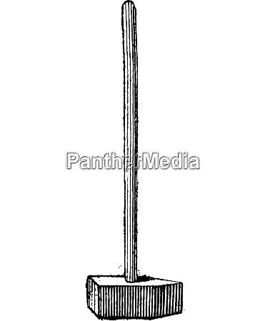 straight peen sledgehammer vintage engraving