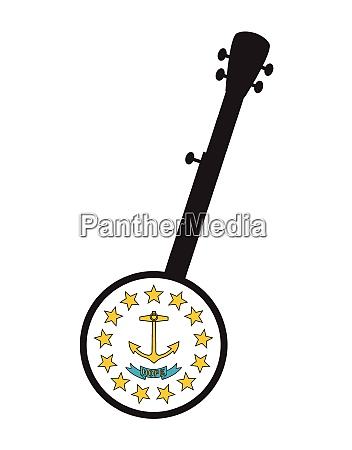 banjo silhouette with rhode island state
