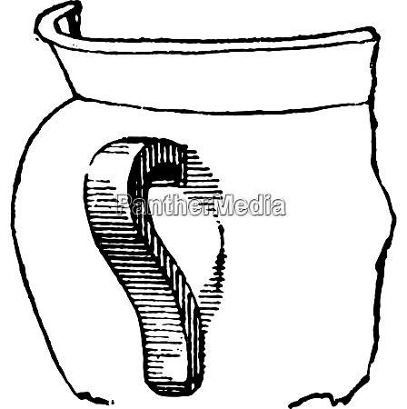 handle vintage engraving