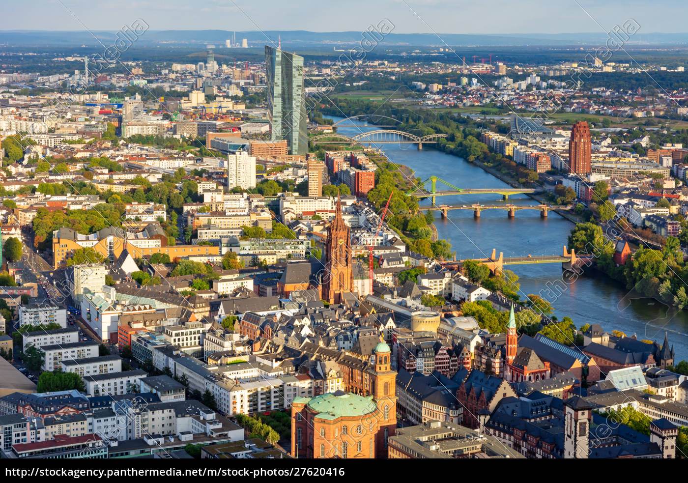 aerial, view, over, frankfurt, and, the - 27620416