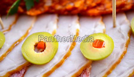 wll decorated party catering food salami