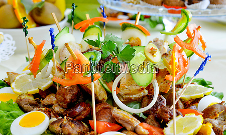 wll decorated party catering food