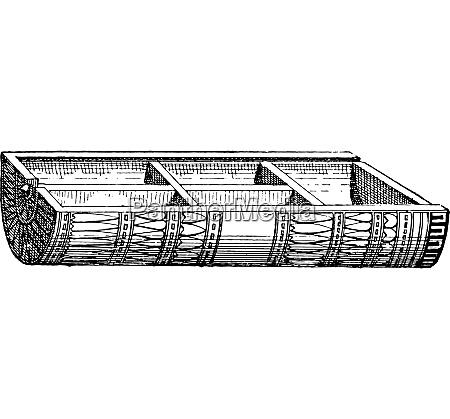 compartment box vintage engraving