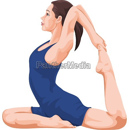 vector of woman performing yoga
