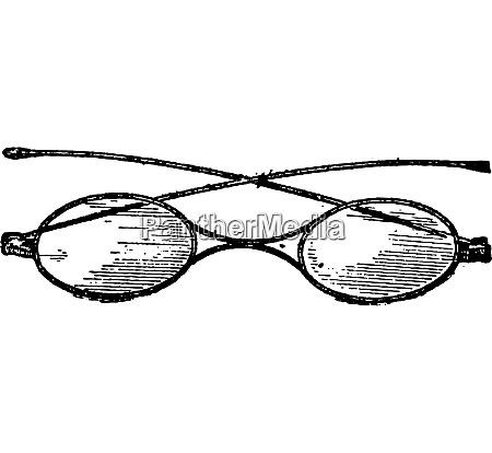 glasses x bridge vintage engraving