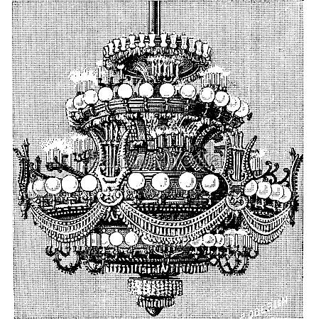 chandelier of the opera of