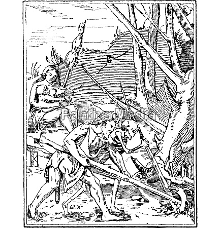 artwork of adam and death working