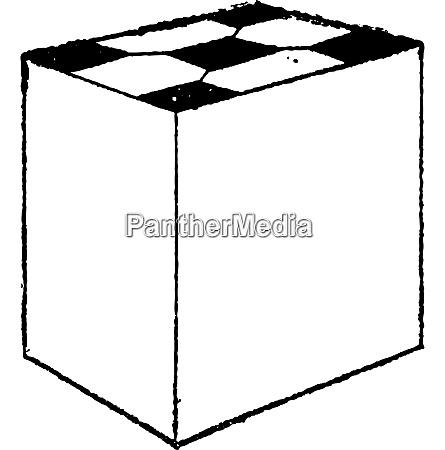 square tile vintage engraving