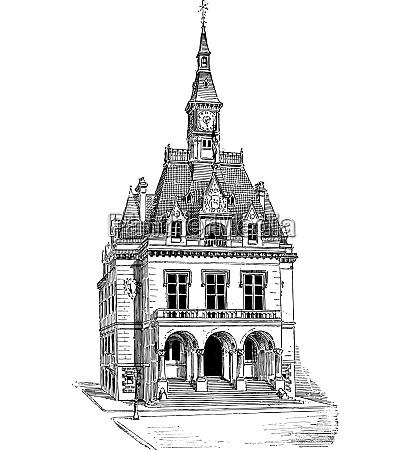 town hall at la ferte sous