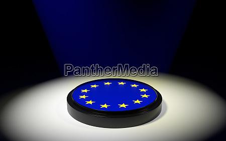 the push button with eu flag