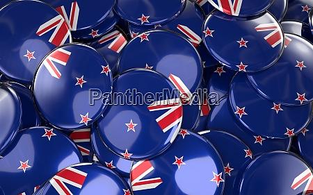 new zealand badges background pile