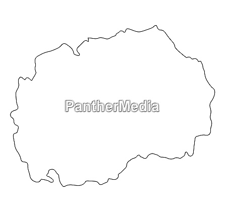 macedonia republic map outline