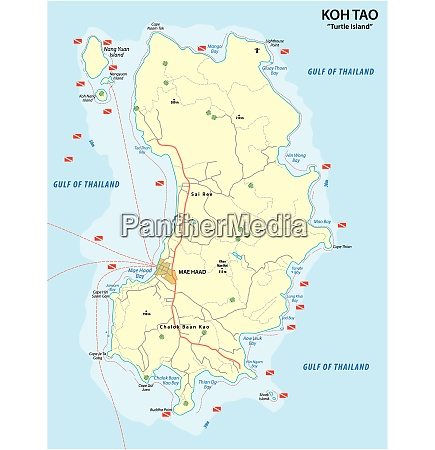 diving map of the thai island
