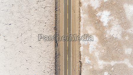 aerial view of road crossing salinas