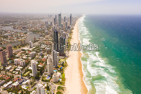 aerial view of gold coast cityscape