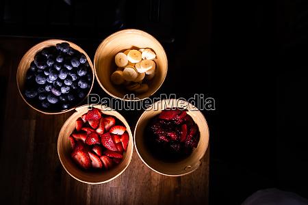 bowls of fresh fruits