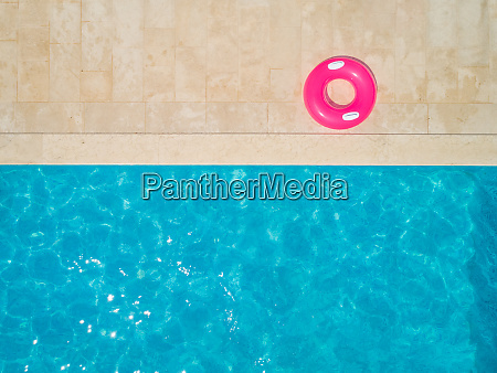 aerial view of swimming pool and