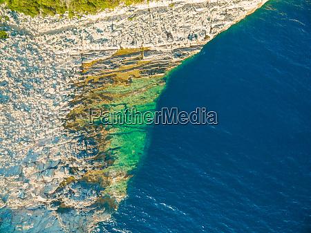 aerial view of rock pool