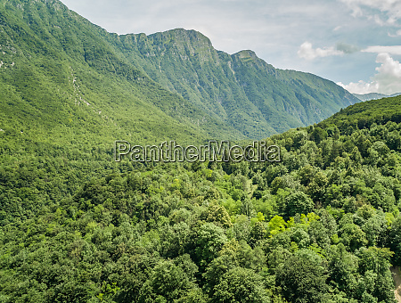 aerial view of mountains in the