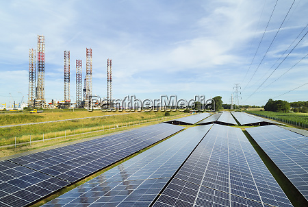 large solar farms disused oil rigs