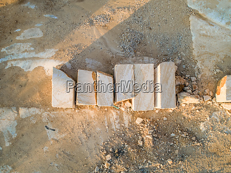 aerial abstract view of brac stone