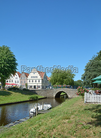 friedrichstadt at treene river in north