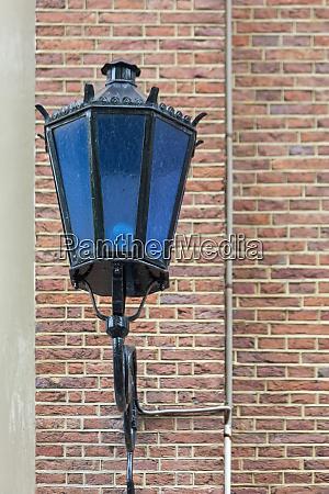 blue street light