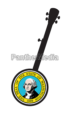 traditional 5 string banjo silhouette with